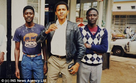 Barack Obama with his brother Samson , left, in 1987 in Nairobi before he went to Harvard