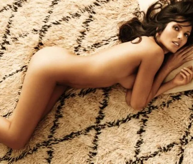 Padma Lakshmi Reclines In The Nude In A Shoot For Allure Magazine In Which She