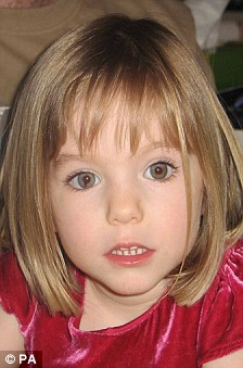 Appeal: Madeleine aged three and how she might look now