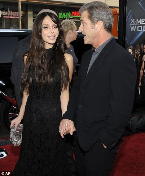 Oksana Grigorieva and Mel Gibson at
