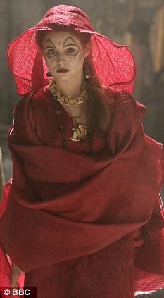 KAREN GILLAN as the Soothsayer.  Episode 2. 'The Fires Of Pompeii' Doctor Who