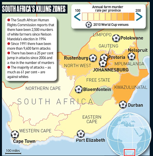 South Africa's killing zones graphic