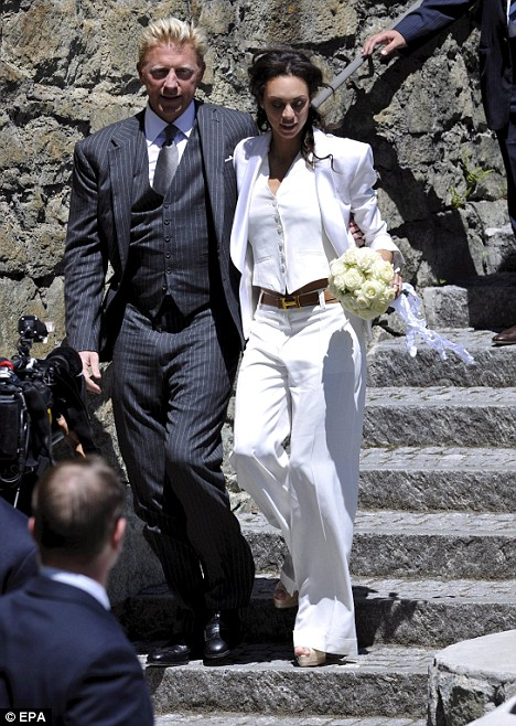 German tennis legend Boris Becker and Dutch Sharlely Kerssenberg s