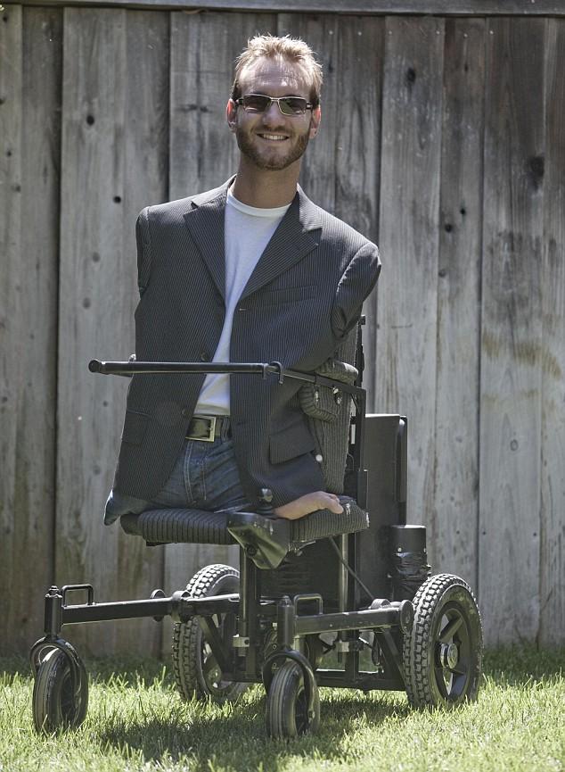 Nick enjoys the Hawaiian sun in his customised electric wheelchair
