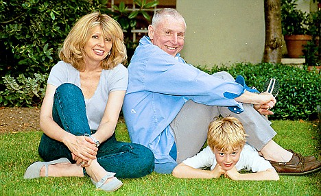 A lost life: Jane Gordon with her husband and son in 1999, before her divorce