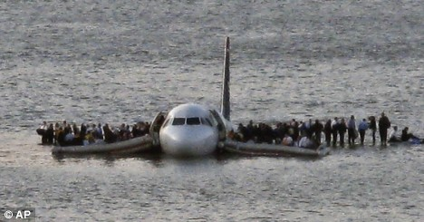 U.S. Airways flight ditched in New York's Hudson River