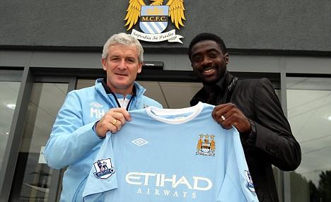 Kolo Toure con el Manchester City