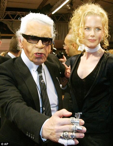 Nicole Kidman Karl Lagerfeld