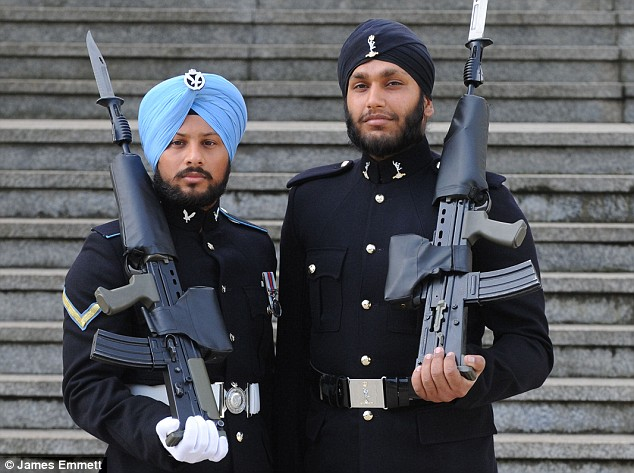 First Sikh Soldiers Go On Parade To Guard The Queen