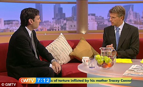 Squirming breakfast TV: Health Secretary Andy Burnham defended giving swine flu drug Tamiflu to children on GMTV as TV presenter Andrew Castle said his daughter 'almost died' after taking it