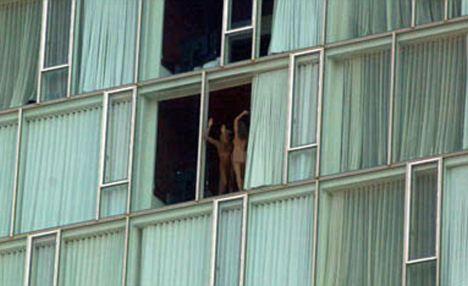 naked cruise ship balcony