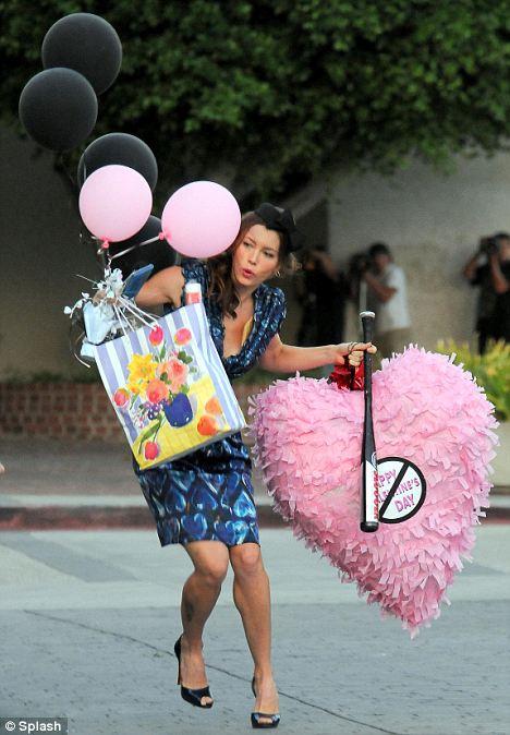 Jessica Biel Wears Her Heart On Her Sleeve In New Romantic