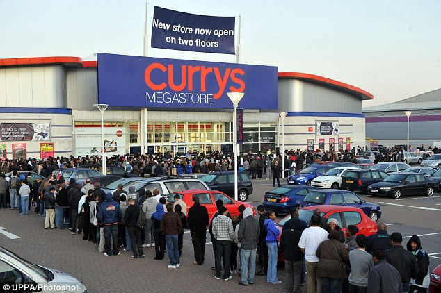 Thousands Of Bargain Hunters Queue Overnight Outside New