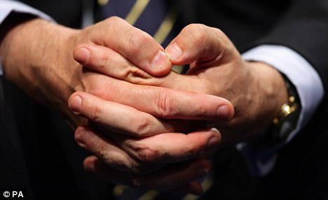 Gordon Brown's improved fingernails.
