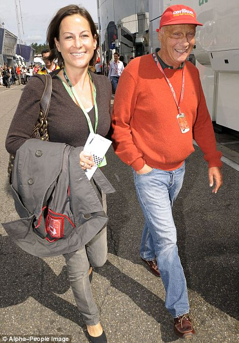 Niki Lauda Is Father To Twins At 60 Daily Mail Online