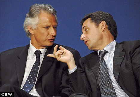 Villepin (left) and Sarkozy (right) - as it were
