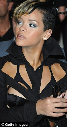 Front row seat: Rihanna has been a regular fixture at Paris Fashion week, attending several shows