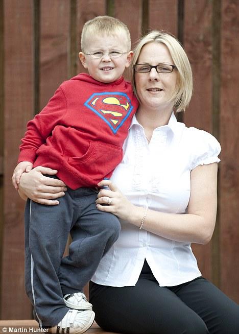 Long battle: PMDD sufferer Donna Barrowman with her son Jamie