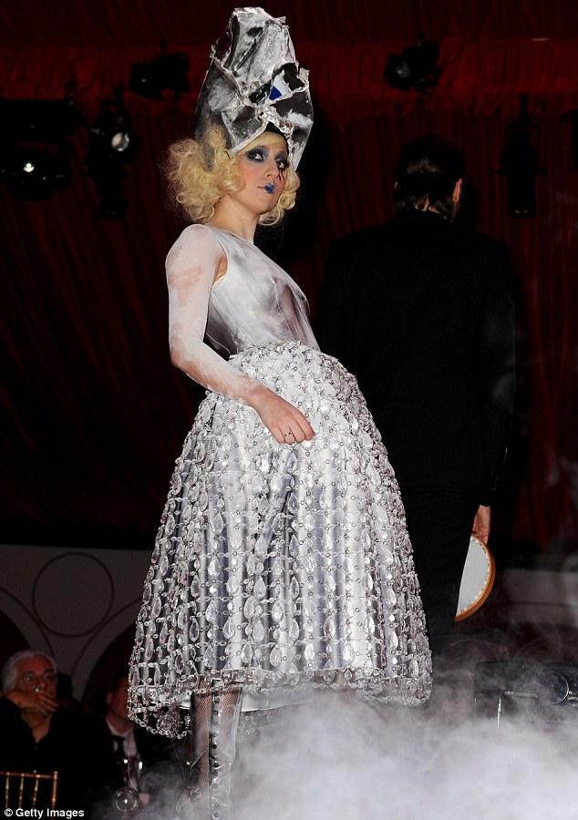 Lady Gaga performs during the MOCA NEW 30th anniversary gala held at MOCA