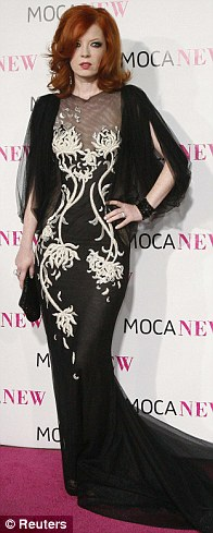 Shirley Manson, vocalist of rock band Garbage, poses at the MOCA (Museum of Contemporary Art)
