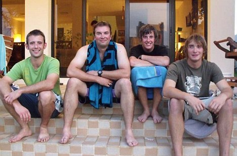 Sam Usher, Olly Smith, Luke Porter and Oliver Young - four of the Britons seized by Iran as they sailed in the Gulf