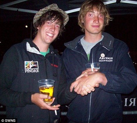 Hostages: Oliver Young (right) and Luke Porter pictured together earlier this year