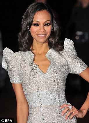 Zoe Saldana arrives at the premiere of the movie 'Avatar' held at  the Odeon Leicester Square