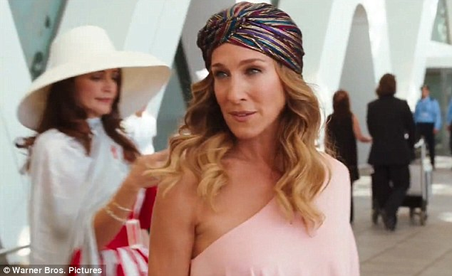 Carrie gets into eastern mode donning a turban for scenes shot outside the group's native New York