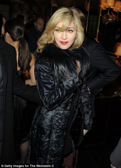 Madonna Singer/actress attends the after party for