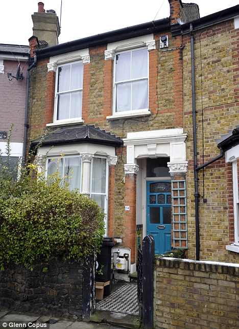 The Mosedale's house in Tottenham where squatters have moved in