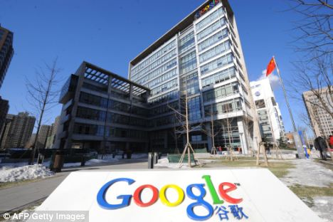 Row: Google said the phishing scam had originated in China