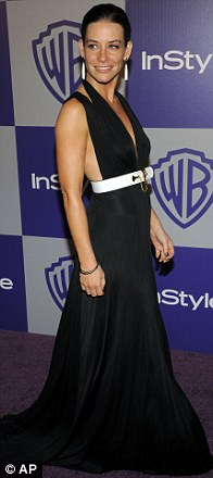Evangeline Lilly arrives to the InStyle/Warner Bros. party following the 67th Annual Golden Globe Awards