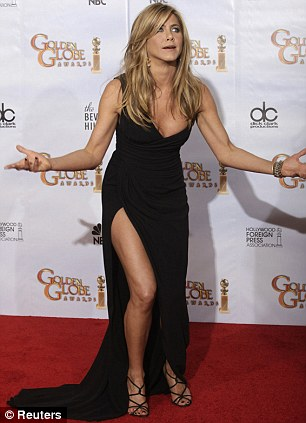 Jennifer Aniston poses backstage at the 67th annual Golden Globe Awards