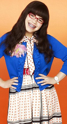 America Ferrera as Betty in comedy Ugly Betty, which will finish-up in April
