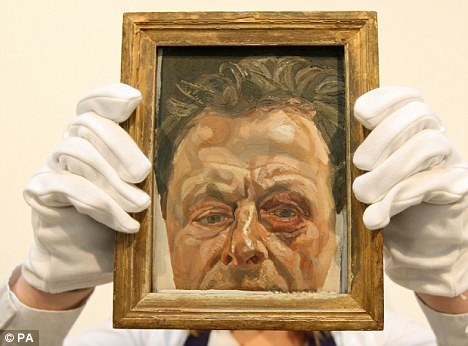 A self-portrait of Freud nursing a black eye after a punch-up with a taxi driver sold for more than £2.8million last month