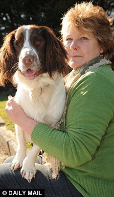 Charlie the spaniel with owner Niki Davis