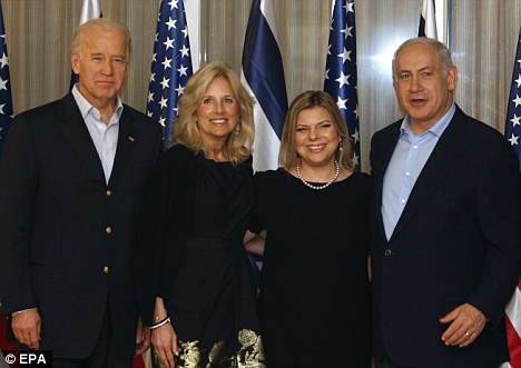 Joe Biden, Jill Biden, Benjamin Netanyahu, Sara Netanyahu