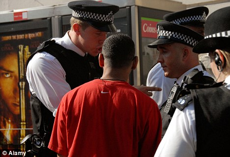 Concern: Almost 20 per cent of black Londoners were stopped and searched between 2007/08