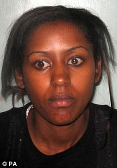 Jailed: Ruth Ayinde-Azeez was jailed for four years for laundering £1.25m