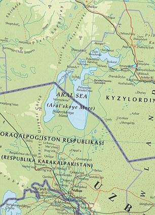 Peta Laut Aral 2007