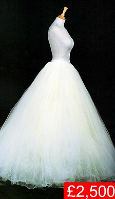 Tulle petticoat she wore for her wedding rehearsal at St Paul's