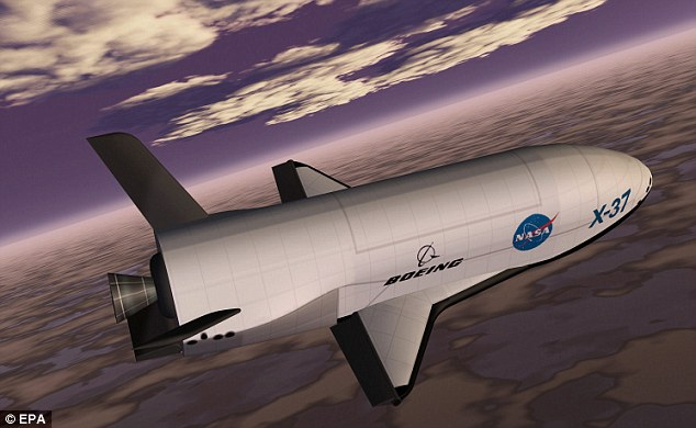 X-37B unmanned space shuttle
