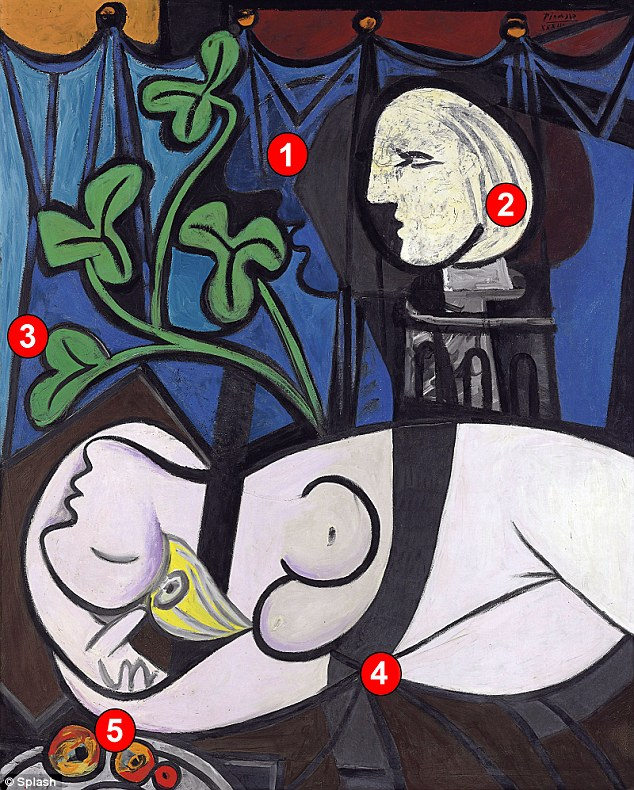 Picasso's 'Nude, Green Leaves and Bust' sold for $106.5million (£70.2million) at auction on Tuesday night, a new world record