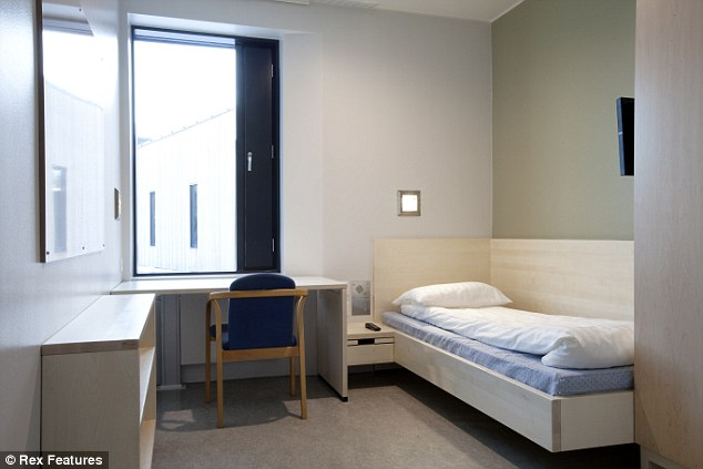 Home away from home: One of the private cells at Norway's new Halden Prison - which appears to be nicer than most university dormitory rooms