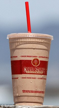 The Cold Stone PB&C packs a whopping 2,010 calories and has been dubbed the worst drink in the U.S.