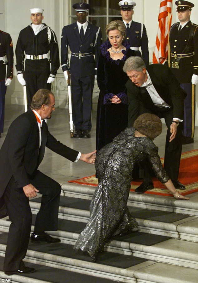 Image result for queen elizabeth falling