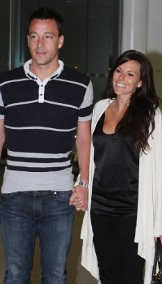 Forgiving: John Terry's wife Toni took him back after an alleged affair