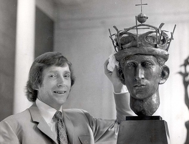 Lifelong friendship: Mr Wynne in 1970 with his sculpture of Prince Charles, who he has remained close with