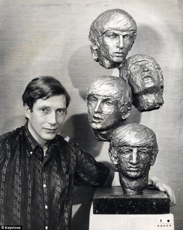 David Wynne with Beatles sculptures