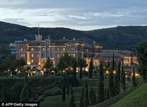'Millionaires' playground': The hotel Villa Padierna in Marbella, where Michelle and Sasha Obama are staying for four days.